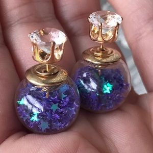 ⭐️💙💜Iridescent Stars Filled Globe DoubleSide